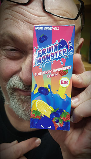 BHVape Fruit Monster Blueberry Raspberry Lemon 100ml Johnnie Lovell
